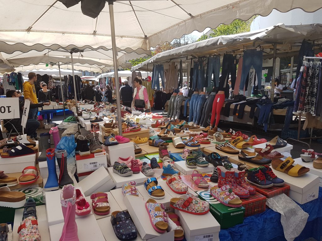Wochenmarkt in Köln Nippes inclusive Urlaubsfeeling - April 2019