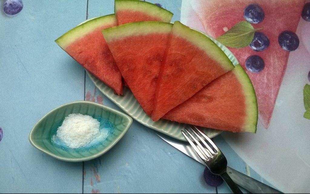 Wassermelone mit Salz