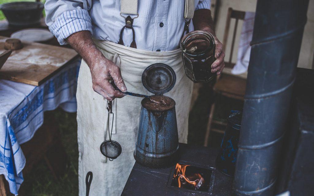 Kaffee Olivenöl Peeling